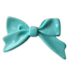 45mm BABY BLUE Bright Bowknot Flatback Bow Cabochon